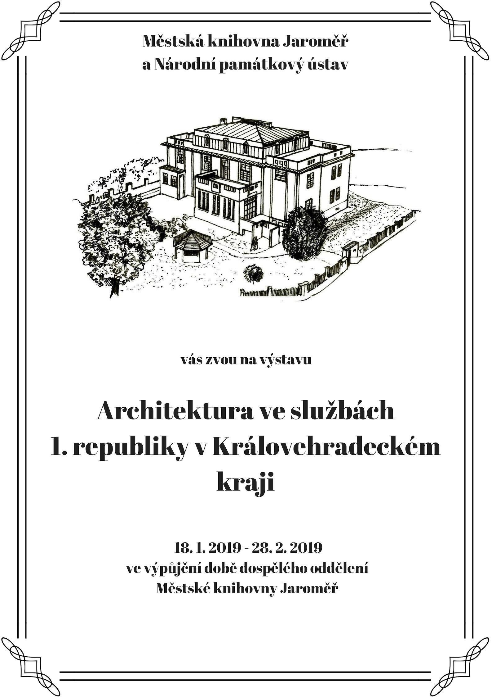 Architektura ve službách 1. republiky v Královéhradeckém kraji