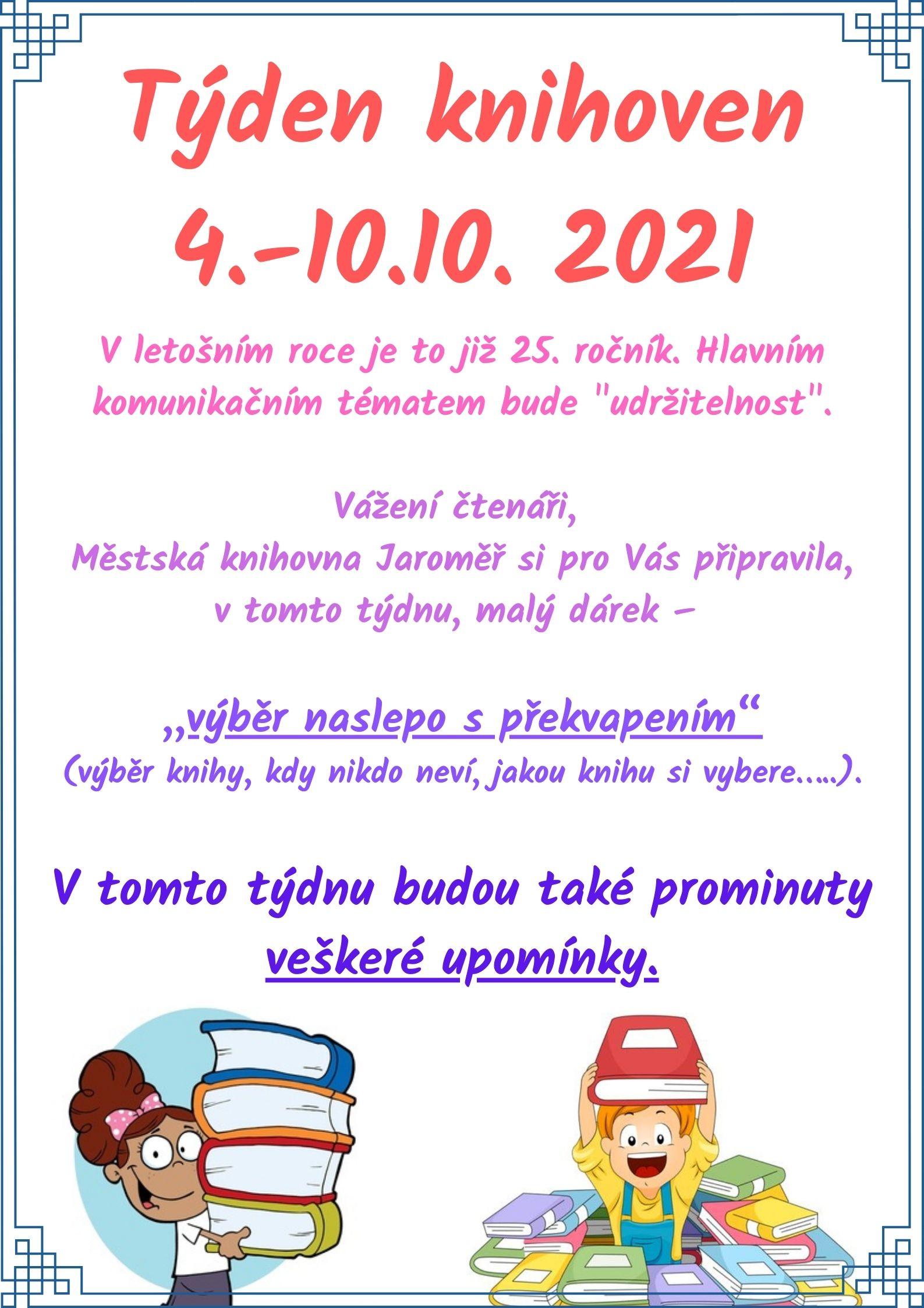 Týden knihoven – 4.-10.10. 2021